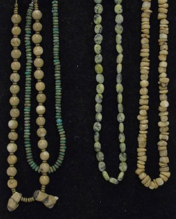 Lot of 4 Natural Stone & Turquoise Bead Necklaces