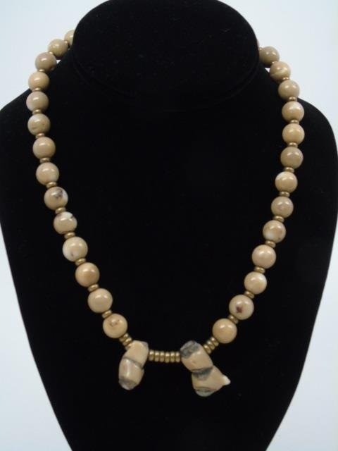 Lot of 4 Natural Stone & Turquoise Bead Necklaces - 2