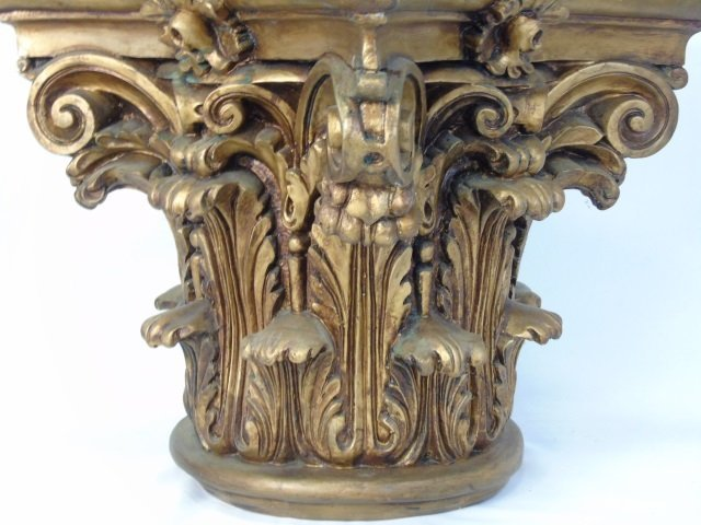 Antique Carved & Gilded Wood Corinthian Column - 2