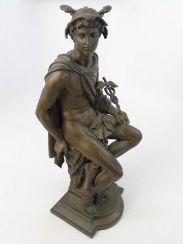 Antique Bronze Statue of the God Mercury