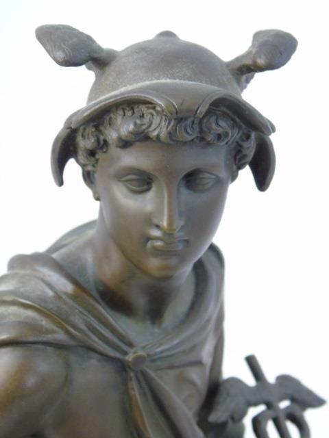 Antique Bronze Statue of the God Mercury - 2