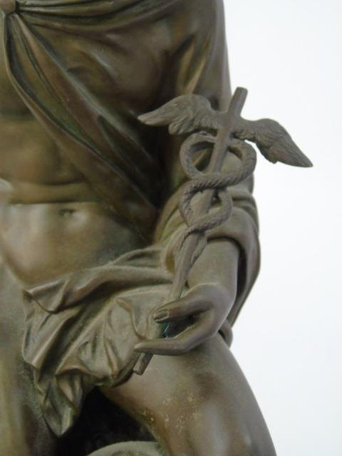 Antique Bronze Statue of the God Mercury - 3