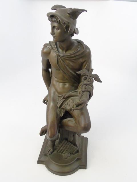 Antique Bronze Statue of the God Mercury - 4
