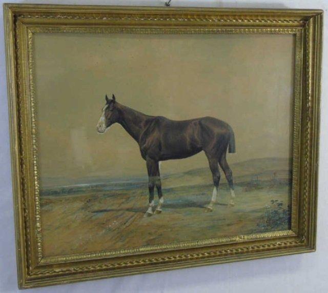 Conrad Peter Schreiber 19th C Equestrian Painting