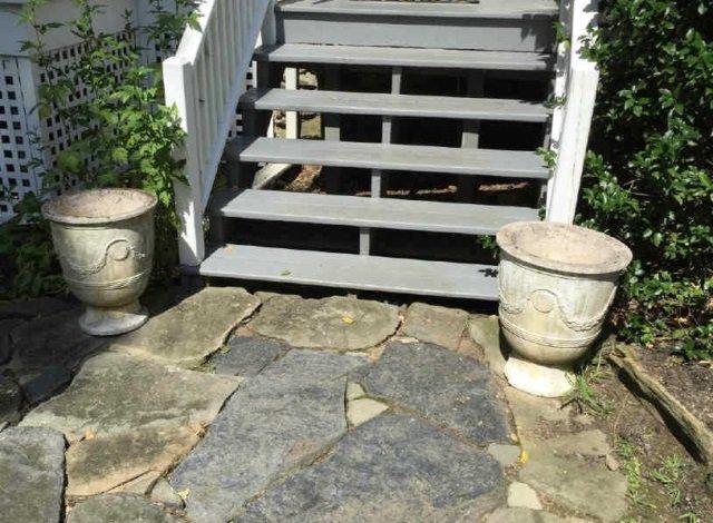 Pair Neo Classical Cast Stone Garden Planter Urns