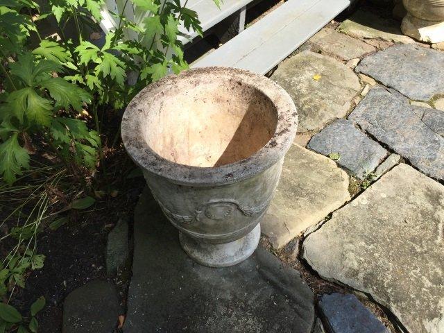 Pair Neo Classical Cast Stone Garden Planter Urns - 2