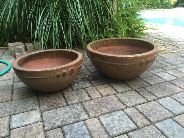 Two Contemporary Glazed Garden Planter Pots - 4