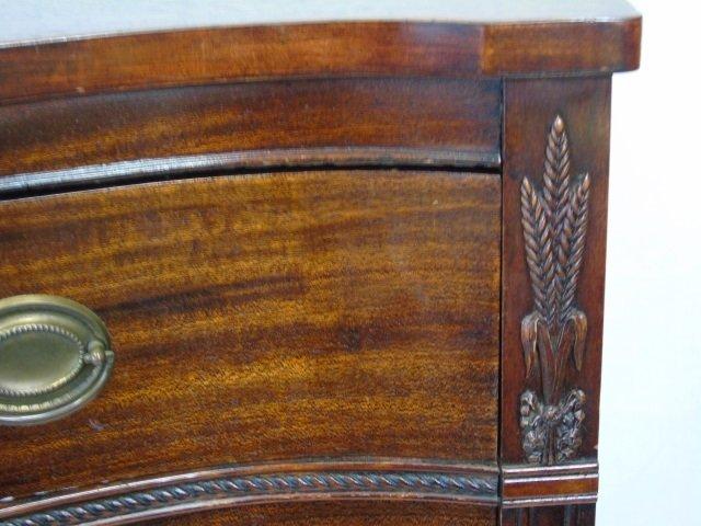 Antique 20th C Mahogany Serpentine Tall Chest - 3