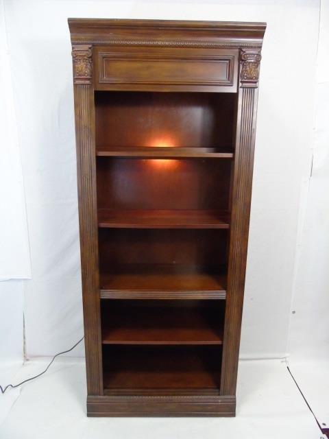 Contemporary Corinthian Column Open Bookcase