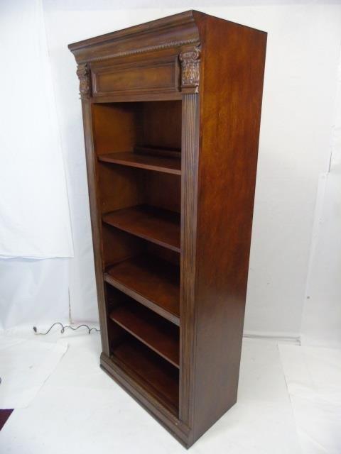 Contemporary Corinthian Column Open Bookcase - 2