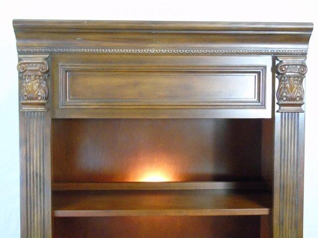 Contemporary Corinthian Column Open Bookcase - 3