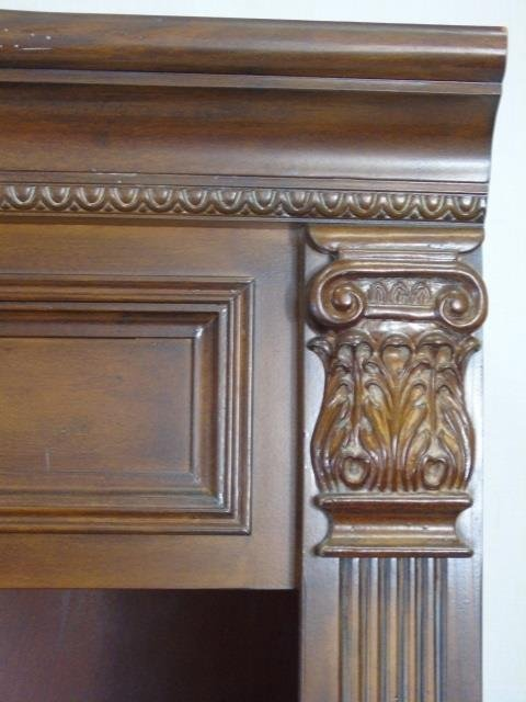 Contemporary Corinthian Column Open Bookcase - 5