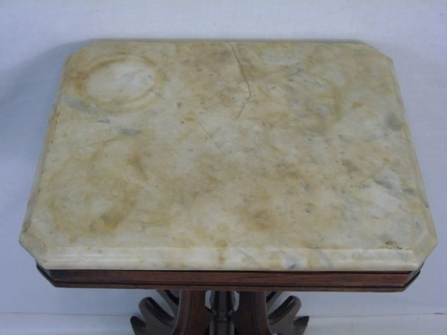 Antique 19th C American Victorian Marble End Table - 3