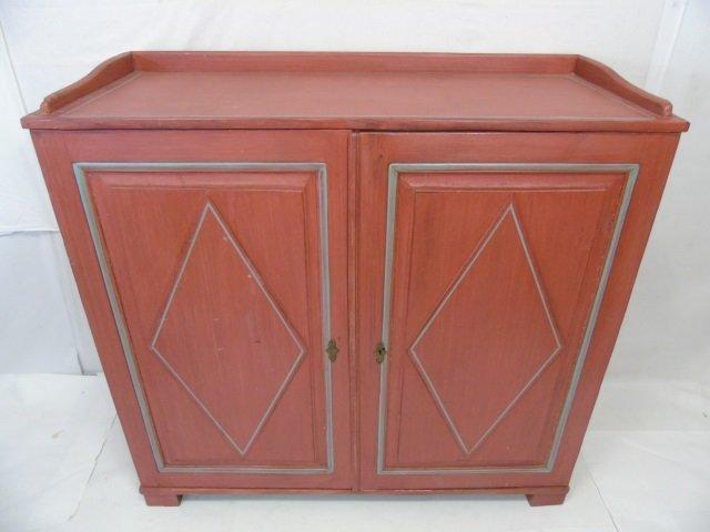 Antique 19th C Scandinavian Painted Cupboard