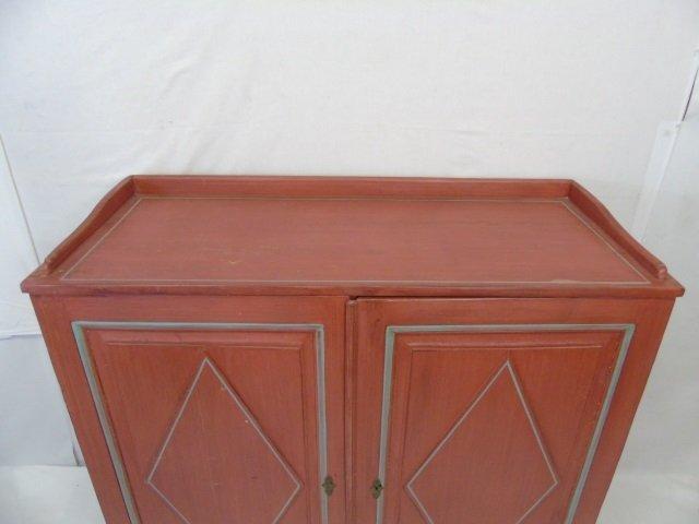 Antique 19th C Scandinavian Painted Cupboard - 2
