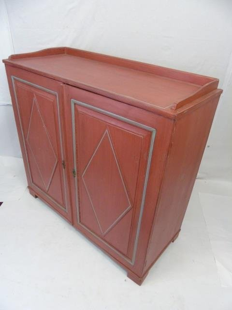 Antique 19th C Scandinavian Painted Cupboard - 3