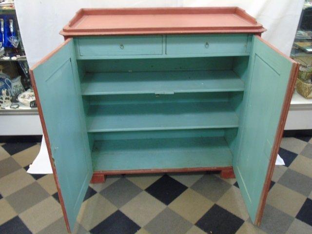 Antique 19th C Scandinavian Painted Cupboard - 3