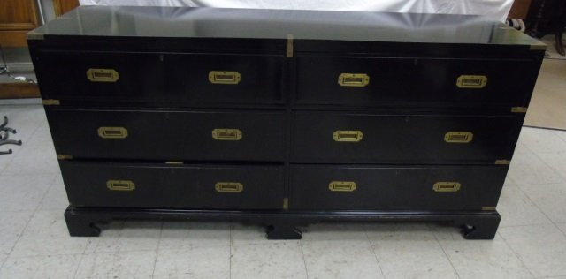 Vintage English Campaign Style Bureau / Chest