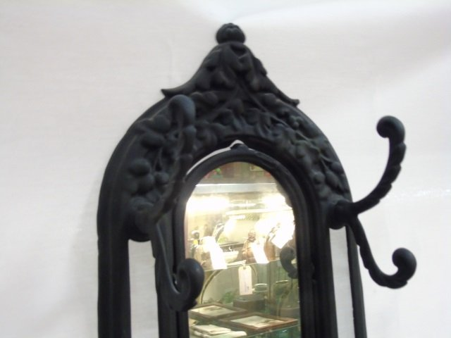 Victorian Style Cast Iron & Porcelain Hall Stand - 3
