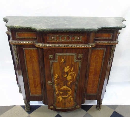 Neo Classical French Style Marble Top Commode