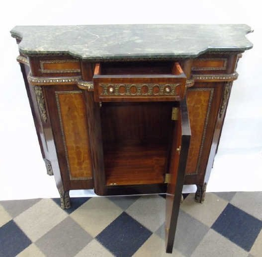 Neo Classical French Style Marble Top Commode - 2
