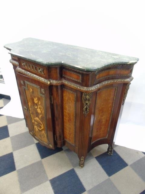 Neo Classical French Style Marble Top Commode - 3