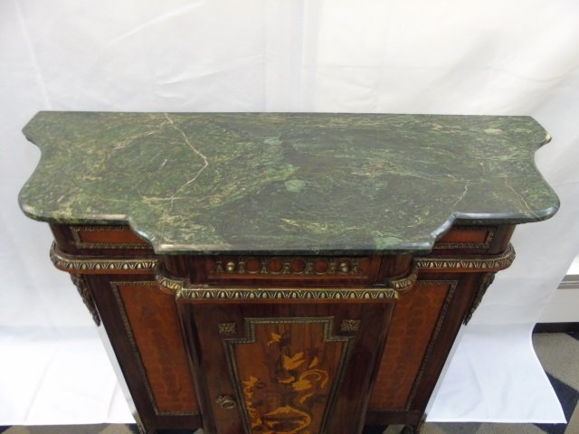 Neo Classical French Style Marble Top Commode - 4