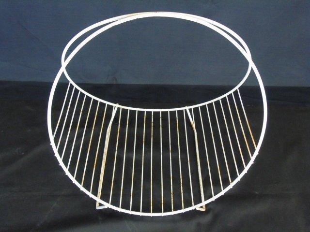 Mid Century Modern Wire Fireplace Wood Holder - 3