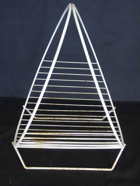 Mid Century Modern Wire Fireplace Wood Holder - 4