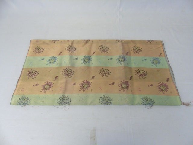 Three Vintage Silk & Fabric Chinese Table Runners - 4