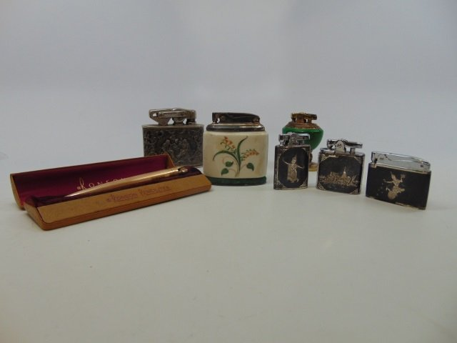 Collection of 7 Vintage Lighters - Ronson, etc