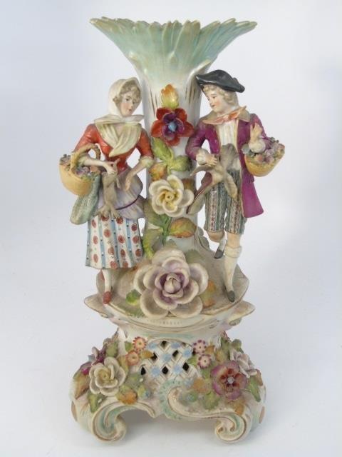 Vintage Italian Capodimonte Porcelain Vase