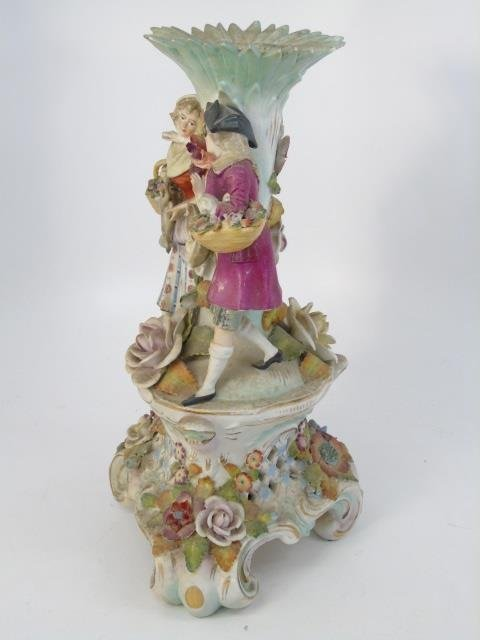 Vintage Italian Capodimonte Porcelain Vase - 3