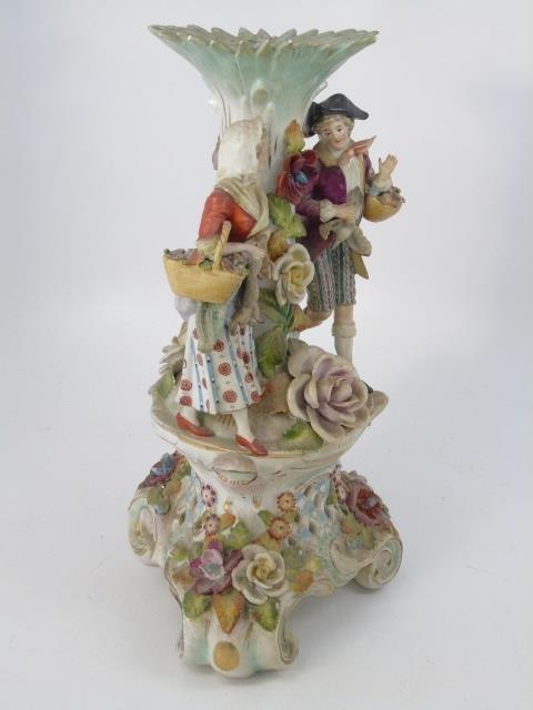Vintage Italian Capodimonte Porcelain Vase - 4
