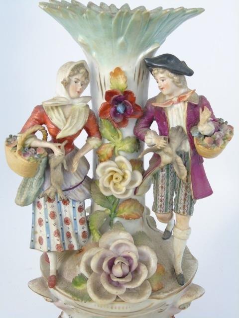 Vintage Italian Capodimonte Porcelain Vase - 5