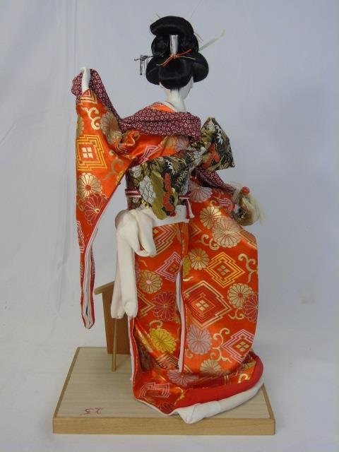 Vintage Japanese Doll in Kimono Silk Robes - 2