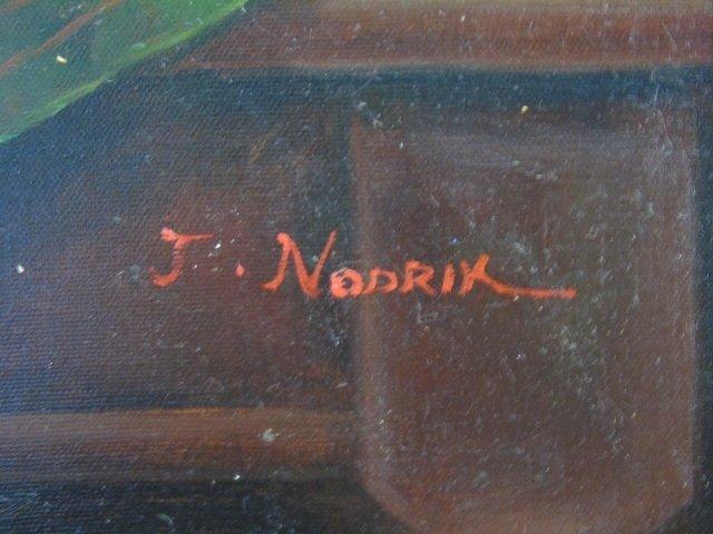 J. Nodrik - Still Life Painting of Horse & Jockey - 3