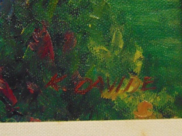 K. Davide - Painting of a Formal Flower Garden - 2