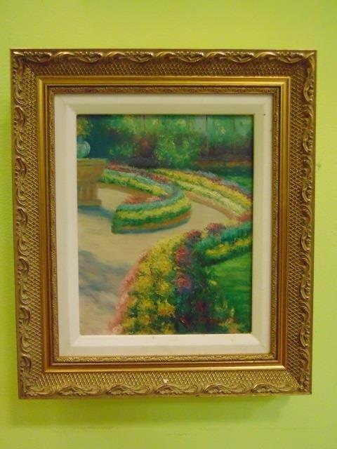 K. Davide - Painting of a Formal Flower Garden - 3