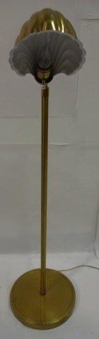 Art Deco Brass Floor Lamp - 2