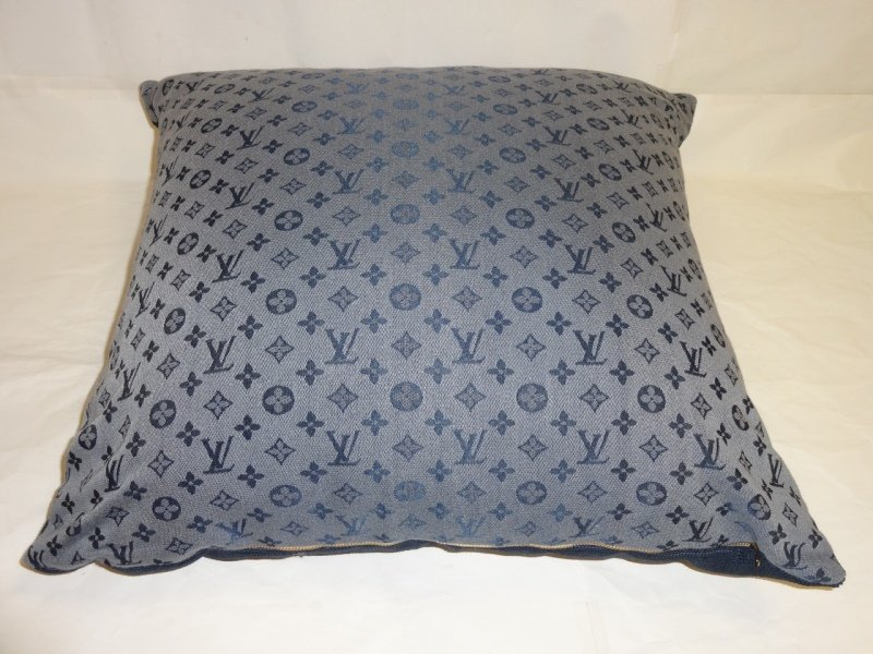 Louis Vuitton Logo Blue Throw Pillow - 2