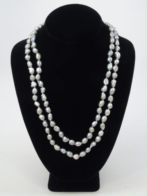 50 Inch Baroque Cultured Pearl Necklace Strand