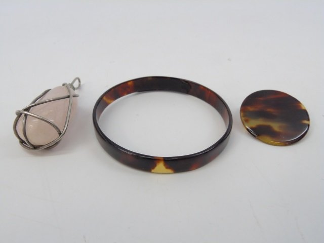 Assorted Jewelry w/ Jade & Hardstone Beads - 3
