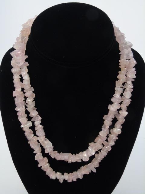 Assorted Jewelry w/ Jade & Hardstone Beads - 4