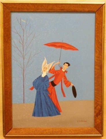 Veniero Canevari Signed Acrylic Canvas Painting