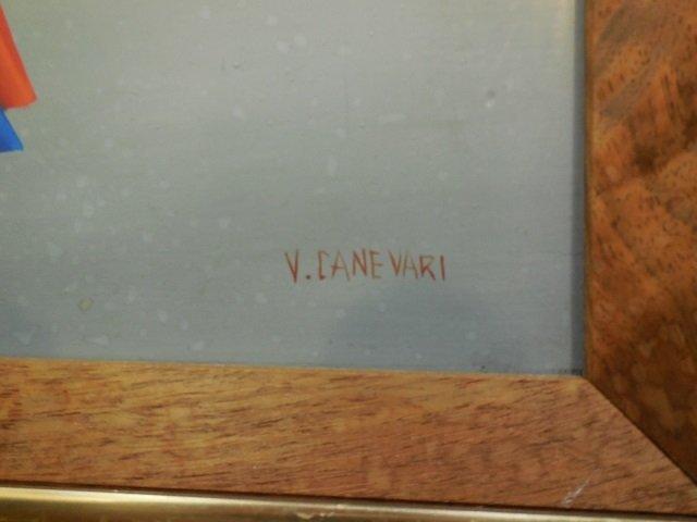 Veniero Canevari Signed Acrylic Canvas Painting - 2