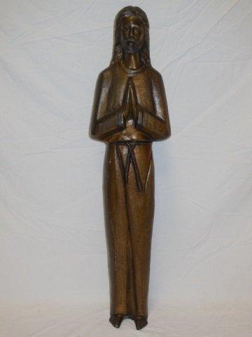 Bronze Statue of Jesus Christ Praying