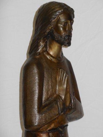 Bronze Statue of Jesus Christ Praying - 4