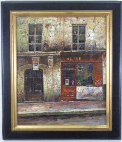 Alexander - Contemporary Painting of Parisian Cafe