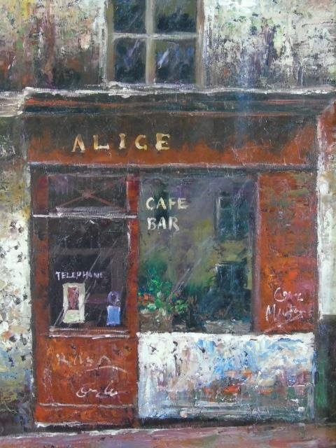 Alexander - Contemporary Painting of Parisian Cafe - 2